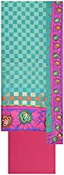 Laxmi Creations Women's Silk Unstitched Dress Material (Rama Green)