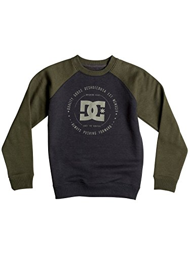 DC Shoes-Maglietta da ragazzo per stabilimento 2-Giacca in pile con maniche Raglan, taglia 46, colore: nero, taglia: M