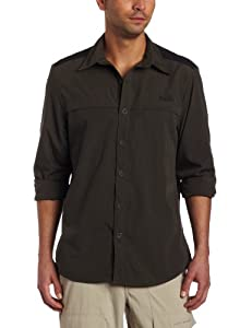 Bear Grylls by Craghoppers Men's Bear Originals Long-Sleeved Lightweight Adventure Shirt - Dark Khaki, Small