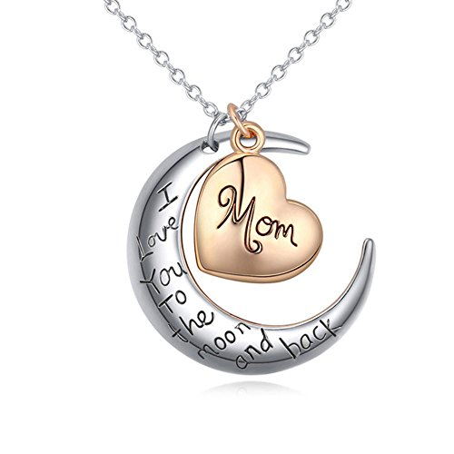 Winter.Z Trend Moon Heart Explosion models exaggeration fashion retro false collar necklace (Mom Ring compare prices)