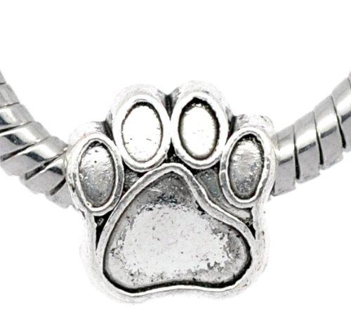 1x-antique-silver-paw-charm-bead-will-fit-on-pandora-troll-chamilia-european-type-bracelets-11mm