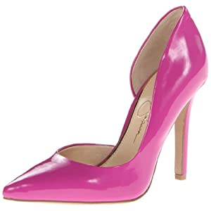 Jessica Simpson Women's Claudette Synthetic D'Orsay Pump,Twilight Magenta Patent,8 M US