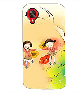 PrintDhaba School Buddies D-3048 Back Case Cover for LG GOOGLE NEXUS 5 (Multi-Coloured)