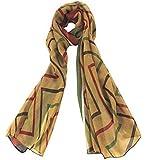 Leegoal(TM) Fashion Square Stripe Printing Voile Scarves Wrap Shawl