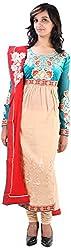 JYOTI Women's Chiffon Unstiched salwar Suit (jbam-8, Rama)