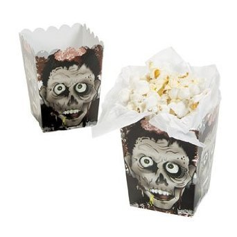 Halloween Zombie Head Mini Popcorn Boxes - 24 Count