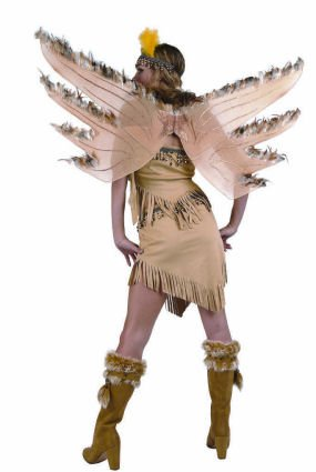 Feathery Indian Fairy Wings Perfect for Bird or Fairy Costumes