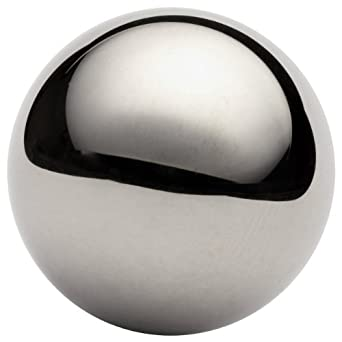 316 Stainless Steel Sphere, Grade G100, Mirror-Like Finish, Precision Tolerance, Inch, ASTM A493
