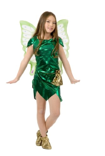 Childs Pixie Tinkerbell Costume Size: Youth Large 10-12