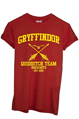 T-Shirt GRYFFINDOR QUIDDITCH HARRY POTTER - FILM by Mush Dress Your Style - Donna-M-Rossa