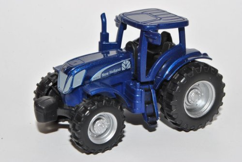 New Holland T7070 Traktor Blau Landwirtschaft 1/64 Norev Modell Auto