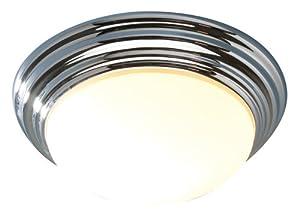 Dar Barclay Polished Chrome Finish Small Flush Bathroom Ceiling Light, BAR5250 by Dar