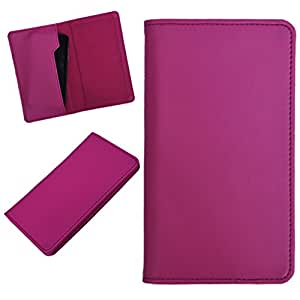 DCR Pu Leather case cover for Spice Stellar Mettle Icon (Mi-506) (pink)