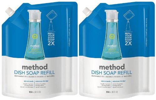 Method Dish Pump Refill - 36 oz - Sea Minerals - 2 pk (Method Dish Detergent Refill compare prices)