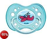 Dodie 4108987 Ciuccio Fisiologico n. 42 in Silicone, con Anello, 18 mesi, Colori Assortiti