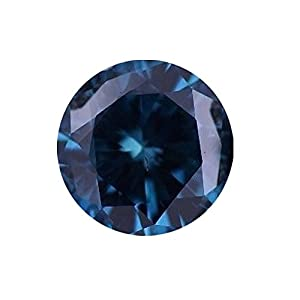 0.75 Carat Total Weight Round Blue VS2 Quality Loose Beautiful Diamond