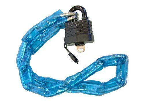 1m PVC Covered Chain with Padlock for Bike, Motorbike Security LK071