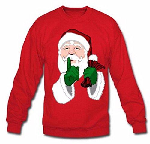 Anglewolf Unisex Christmas Santa Print Plus Caldo