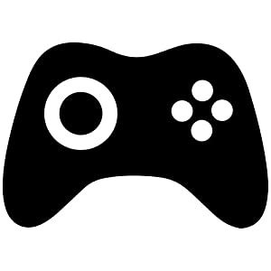 Amazoncom Video Game Controller Decal Sticker blackXbox Controller Silhouette