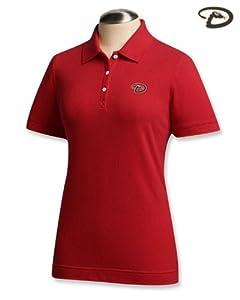 Arizona Diamondbacks Ladies Ace Polo Shirt Cardinal Red by Cutter & Buck