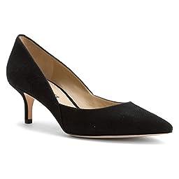 Via Spiga Women\'s Medora Dress Pump, Black/Black, 8.5 M US
