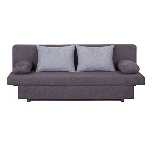 Schlafsofa-Schlafcouch-2-Sitzer-Sofa-ZOE-anthrazithellgrau-mit-Bettkasten-und-Kissen-Microfaserbezug