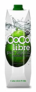Coco Libre Organic Coconut Water, 33.8-Ounce Tetra Paks (Pack of 12)
