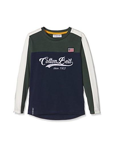 Cotton Belt Camiseta Manga Larga Verde Bosque