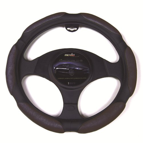 Moda Motorsports 9042 Black Medium Ergo Supreme Leatherette Steering Wheel Cover