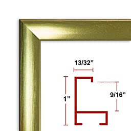 14 x 21 Shiny Gold Poster Frame - Profile: #93 Custom Size Picture Frame