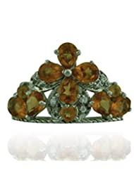 JewelryKarigiri White Hessonite With CZ Ring For Women - B00MVVTGH4