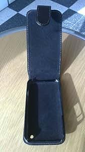 Generique 3gsblackam000a2 Etui rabat en cuir pour iPhone 3/3G/3GS Noir