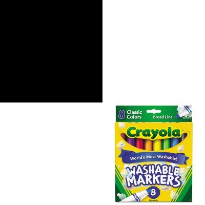 Kitcyo512048Cyo587808 - Value Kit - Crayola Washable Sidewalk Chalk (Cyo512048) And Crayola Washable Markers (Cyo587808) front-1074488