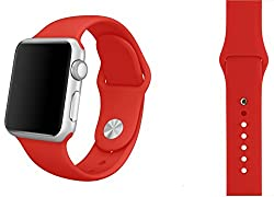 ProElite 42 mm Silicon Wrist Band Strap for Apple Watch - Red [*Watch NOT included*]