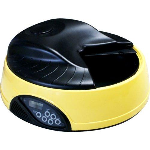 【音声録音機能、タイマー付き】 自動給餌器 オートペットフィーダー (最大4回分のエサを自動給餌、約8秒の音声を録音)