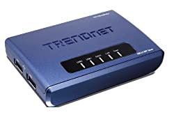 TRENDnet 2-Port Multi-Function Print Server TE100-MP2U (Blue)