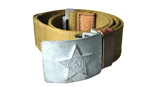 Buy Made in USSR soviet army Soldier Green canvas Belt with Grey buckle Brand new