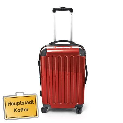 Hartschalen Koffer Rot Hochglanz max.87 L Reisetrolley