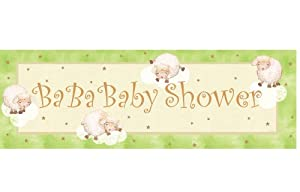 Creative Converting Baby Shower Ba Ba Baby Giant Party Banner, 60-Inch by Creative Converting