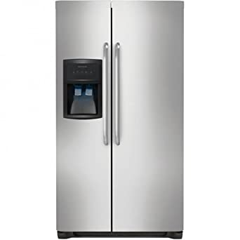"Frigidaire FFHS2622MS 36"" 26 cu. ft. Side-by-Side Refrigerator in Stainless Steel"