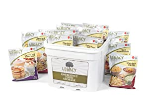 Gluten Free Emergency Freeze Dried Food Storage - 120 Large Servings Breakfast, Lunch... by Legacy Premium Food Storage