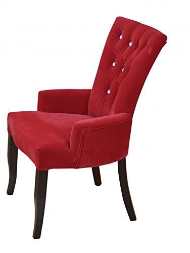 moebel-direkt-online-Stuhl-mit-Armlehnen--Polsterstuhl--Armlehnstuhl--In-4-trendigen-Farben-lieferbar--FSC-Ausfhrung-der-Umwelt-zuliebe--FSC--100-IC-COC-100355-rot