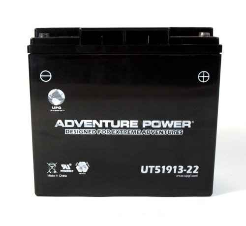 UPG UT51913-22 Adventure Power Power Sport AGM Series Sealed AGM Battery