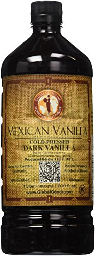 Mexican Vanilla Dark Cold Pressed 1 Liter / 33.8 Oz (Global Goods compare prices)