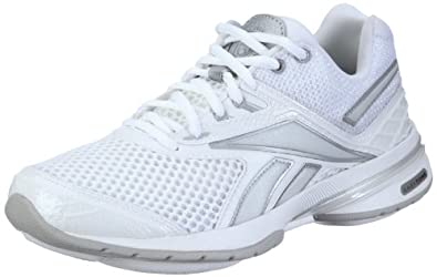 Reebok Easytone Reeattack 150322, Damen Sportschuhe - Fitness, Weiss (white/pure silver 3), EU 40.5 (UK 7)