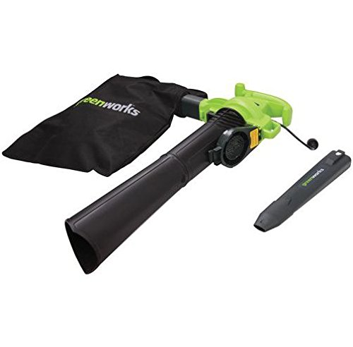Electric Leaf Blower/Vac Makes Yard Work Ultra Fun, Quick And Easy. Vacuum At Variable-Speeds Effortlessly...This Environmentally-Friendly Greenworks 12 Amp Magnesium Impeller Blower Gets The Job Done. Eliminate Your Rake And Mulch Debris Down To One Bag
