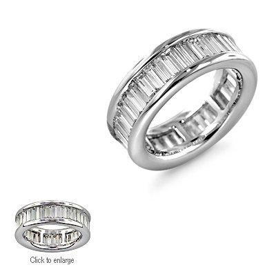 4.81 Ct Baguette Cut Diamond Eternity Band 18k