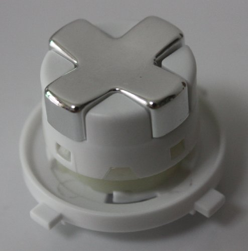 Chrome Silver W/ White Transforming/Transformer D-Pad For Xbox 360 Controller (Rotating Dpad)