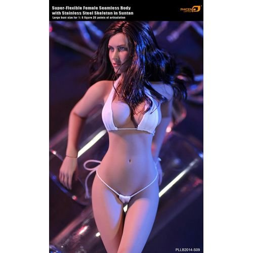 PHICEN(ファイセン) スーパーフレキシブル1/6シームレス女性フィギュア PLLB2014-S09 ステンレススチールスケルトン