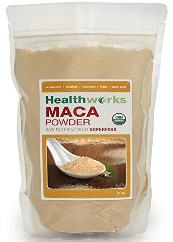 Healthworks Raw Certified Organic Maca Powder 8oz